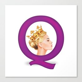 Q is for Queen Canvas Print