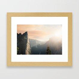 Mountains landscape 4 Framed Art Print