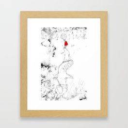 Nanook and Id Helping Sedna Reach the Moon Framed Art Print