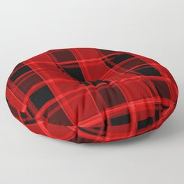 Bright intersections of light and bloody lines on a dark background. Floor Pillow