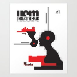 UrbanStyleMag issue #11 cover Art Print