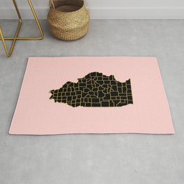 Illinois map Rug