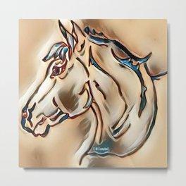 """Horse Head"" Metal Print"