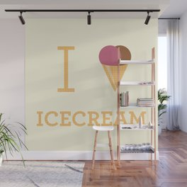 I heart Icecream Wall Mural