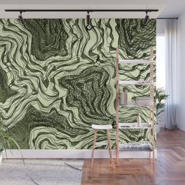 Ink River - Green edition Wall Mural