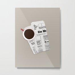Coffee in Morning Metal Print