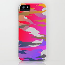 Camouflage and Circles I iPhone Case