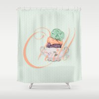 chill Shower Curtains featuring Chill by Brocoli ArtPrint