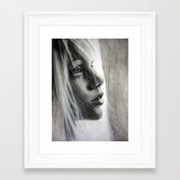 firefly Framed Art Prints featuring Firefly by Olga Noes
