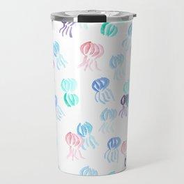 Jellyfish Pattern on White Travel Mug