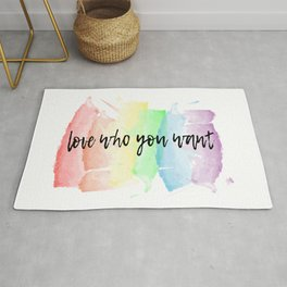 love who you want Rug