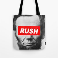 rush Tote Bags featuring Rush by ChipperJones