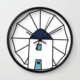 Island windmill Wall Clock