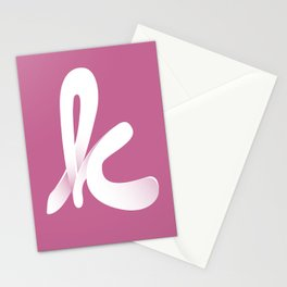 Typographic K Stationery Cards