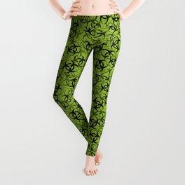 Biohazard (black on green) Leggings