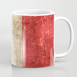 Vintage Aged and Scratched French Flag Coffee Mug