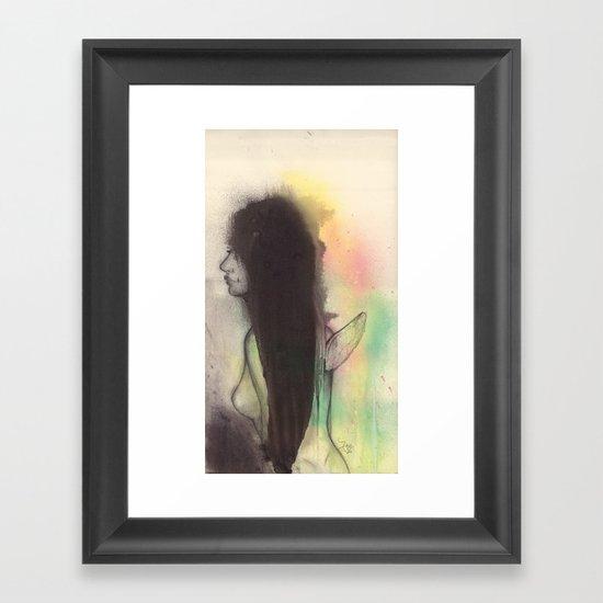 Nude angel Framed Art Print