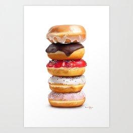 looks yummy, donut ? by dana alfonso Art Print