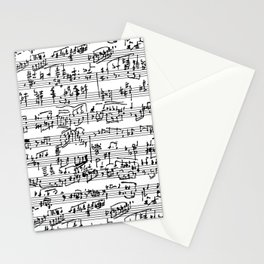 Hand Written Sheet Music Stationery Cards