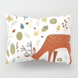 Deer and Forest Things Pillow Sham