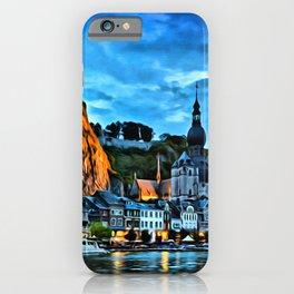 Belgium Houses Rivers Wallonia Night Cities iPhone Case