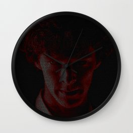 A Study In Scarlet Wall Clock