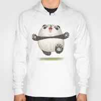 panda Hoodies featuring Panda by Toru Sanogawa