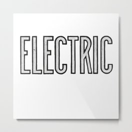 Electric Metal Print