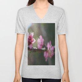 A Bough Of Blurred Peach Blossom Unisex V-Neck