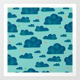 Clouds and Stars Art Print