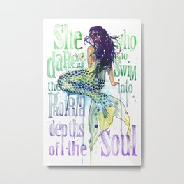 Mermaid : Profound Depths Metal Print