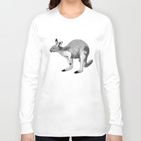 kangaroo Long Sleeve T-shirts featuring Kangaroo by Goodnight Silver