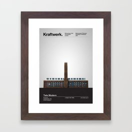 Kraftwerk at the Tate Modern Framed Art Print