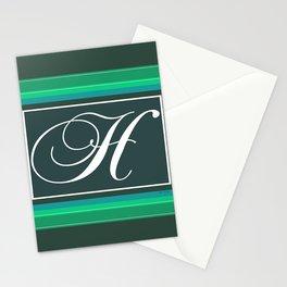 MONOGRAM  H GREEN Stationery Cards