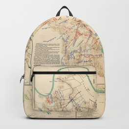 Civil War Batlle Field Maps From 1895 Backpack