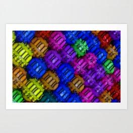 Colorful Balls Abstract Art Print