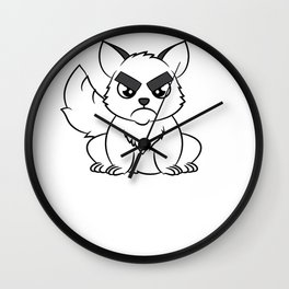"""""""I Hate Everyone Funny Cat"""" tee for fur parents and pet lovers out there! Cutest gift ever!  Wall Clock"""