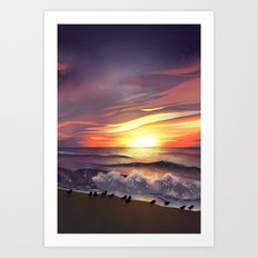 Half Moon Bay Art Print
