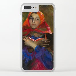 MAKOVSKY, VLADIMIR (1846-1920) The Collapse of a Bank Clear iPhone Case