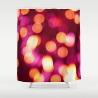 the lights Shower Curtains featuring Lights by Chiara Cattaruzzi