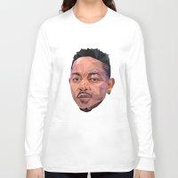 kendrick lamar Long Sleeve T-shirts featuring Kendrick by REEZ