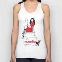 nutella Tank Tops featuring Nutella Girl by Martina