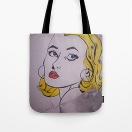 Cartoon Woman Tote Bag