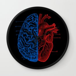 Heart and Brain Wall Clock