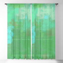 Color Splendor No.1f by Kathy Morton Stanion Sheer Curtain