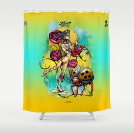 Madame Ladybotté Butterfly of Lovers' Vale Shower Curtain