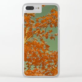 Vintage Fall Abstract Clear iPhone Case