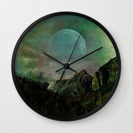 The Jade Rugged Moon Wall Clock