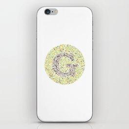 """G"" Eye Test Letter Circle iPhone Skin"
