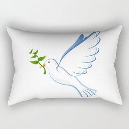 Olive Branch & Dove Rectangular Pillow